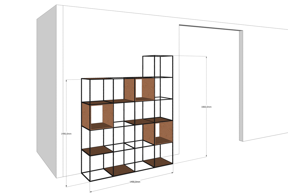 nortstudio⎪bookcase CUBE