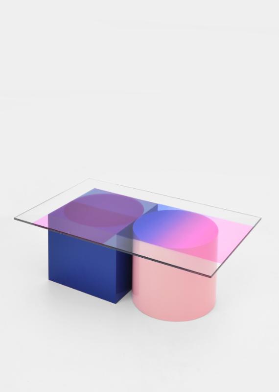 low table COMPOSITION blue schuin